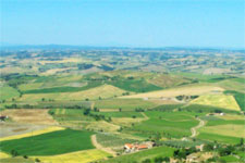 countryside from Montalcino