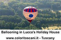 ballooning in Lucca's holiday house
